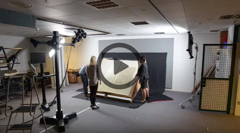 vídeo digitalização livro gigante
