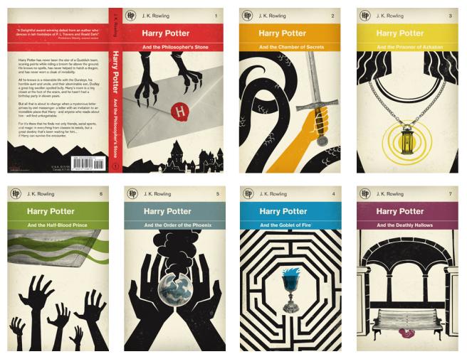 capas dos livros harry potter penguin classic styles