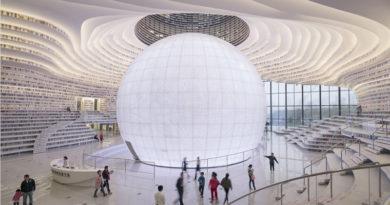 China Inaugura Mega Biblioteca Futurista com 1,2 Milhão de Livros