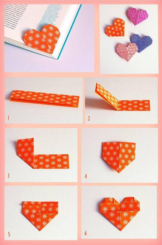 como fazer marcador de livro origami